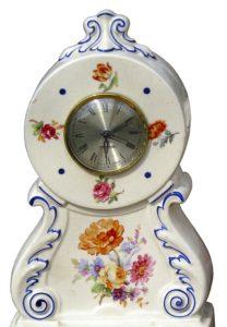 Alte, große Keramik Uhr